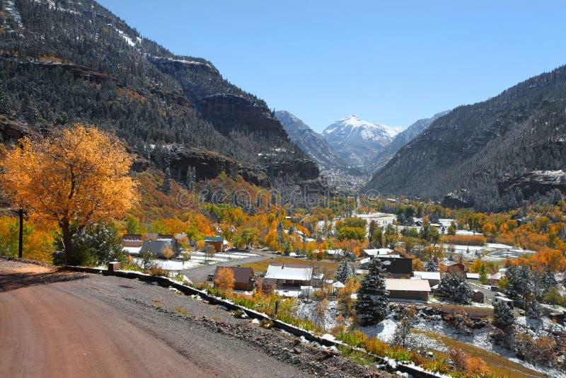 Сценарный город Ouray в Колорадо стоковое изображение