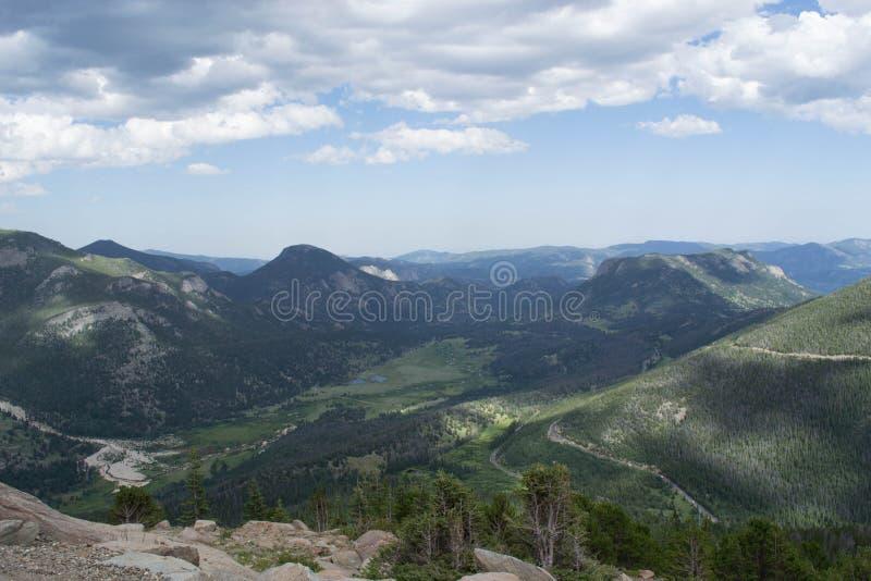 Сценарный обзор скалистых гор, Колорадо стоковые изображения rf
