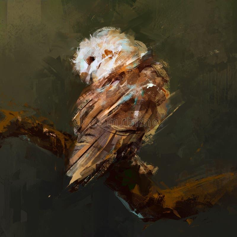 Сценарный сыч изображения сидя на ветви бесплатная иллюстрация