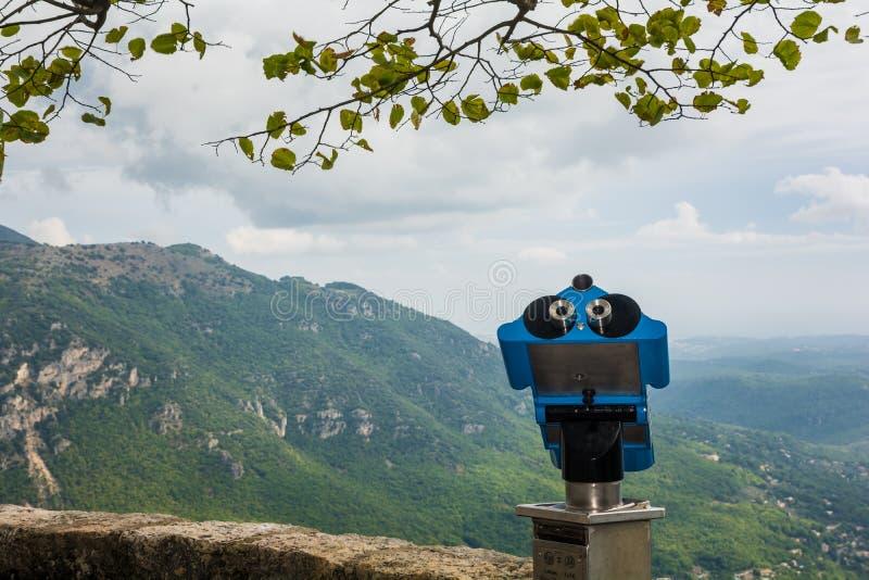 Сценарный Mountain View от бдительности в Eze Франции стоковая фотография rf