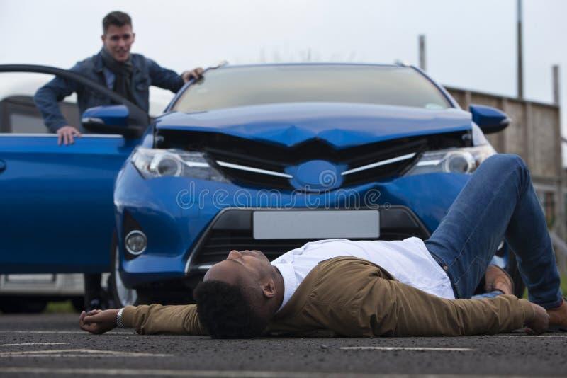 Сцена автокатастрофы стоковые изображения