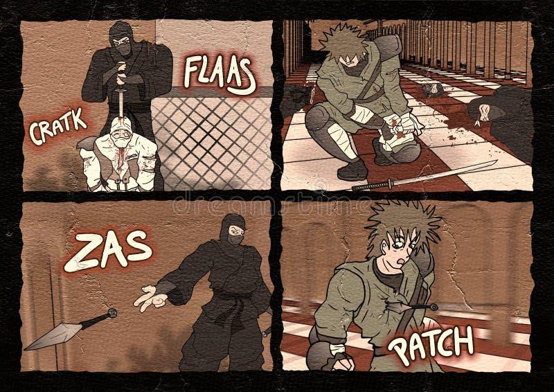 Сцена бойцов шуточная бесплатная иллюстрация
