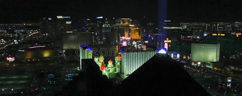 Сцена Вегас от гостиной Skyfall, Лас-Вегас, Невады, США стоковое изображение rf