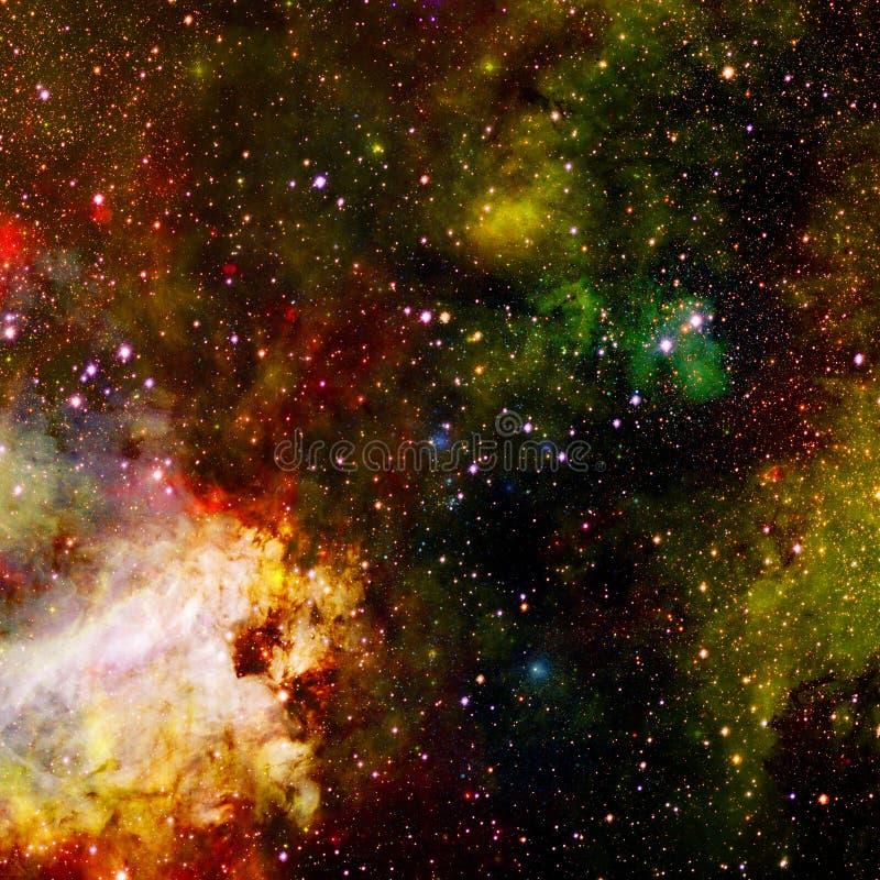 Сцена вселенной с планетами, звездами и галактиками в космическом пространстве стоковые изображения