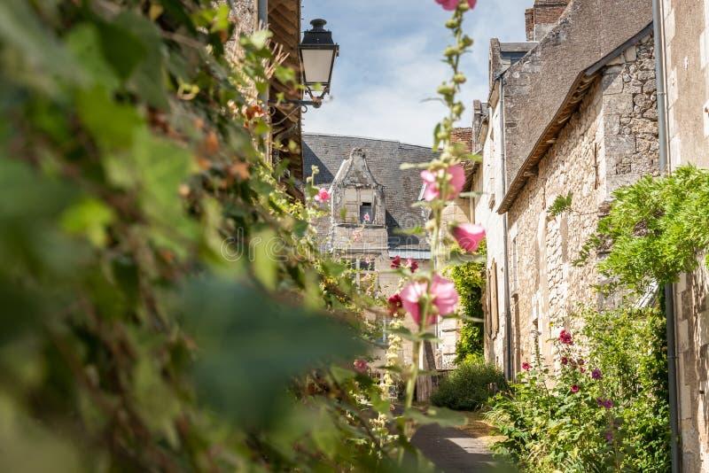 Сцена в Manse Crissay Sur, деревне в Loire Valley стоковое фото rf
