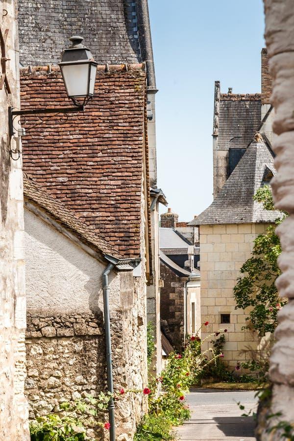 Сцена в Manse Crissay Sur, деревне в Loire Valley стоковое фото