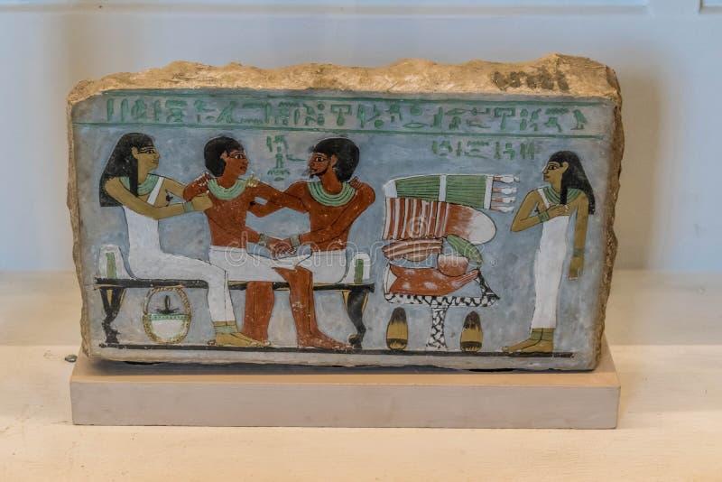 Сцена гомосексуальных отношений в древнем египете стоковые изображения