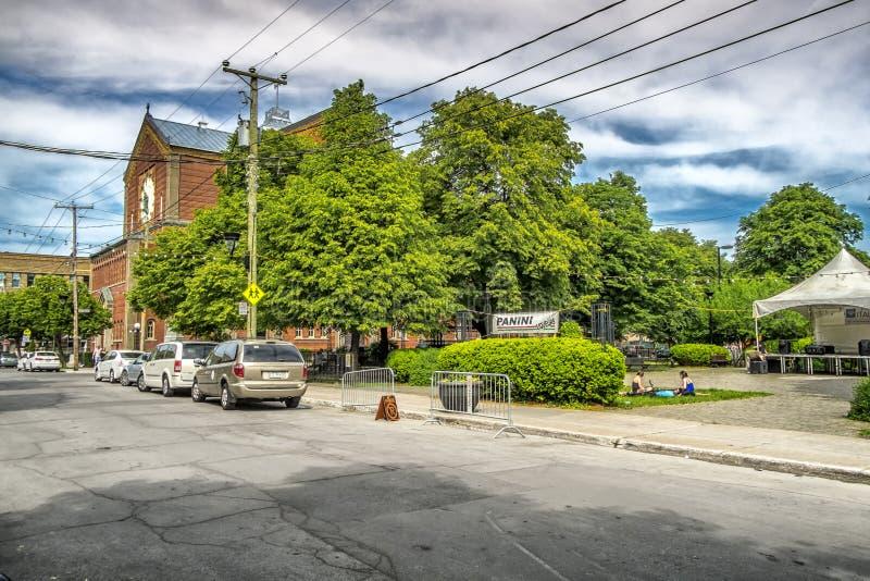 Сцена города Монреаля стоковое изображение