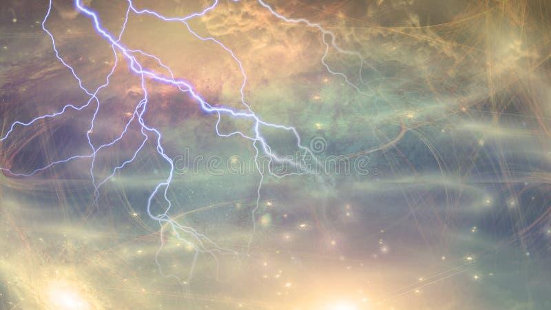 Сцена глубокого космоса иллюстрация штока