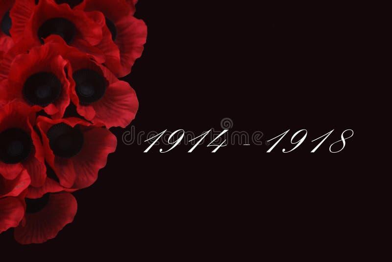 Сцена день памяти погибших в первую и вторую мировые войны стоковое фото