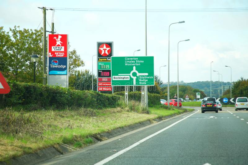 Сцена дороги Великобритании стоковые фотографии rf
