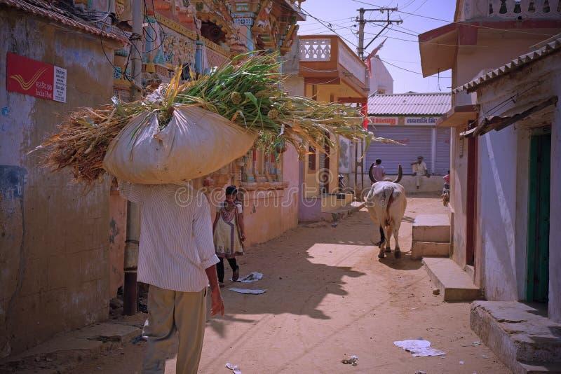 Сцена деревни в Гуджарате стоковые фотографии rf