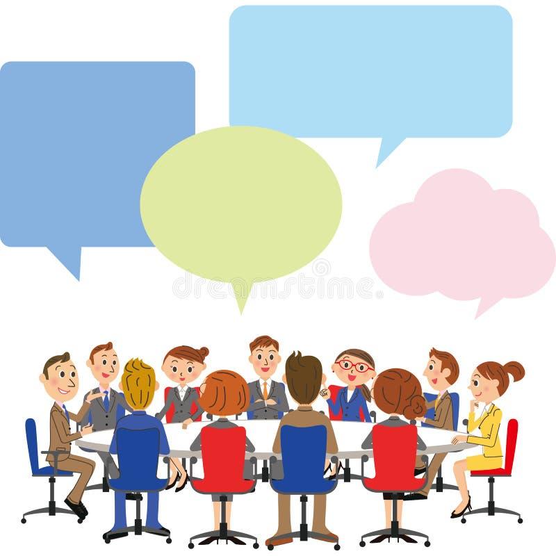 Сцена деловой встречи бесплатная иллюстрация