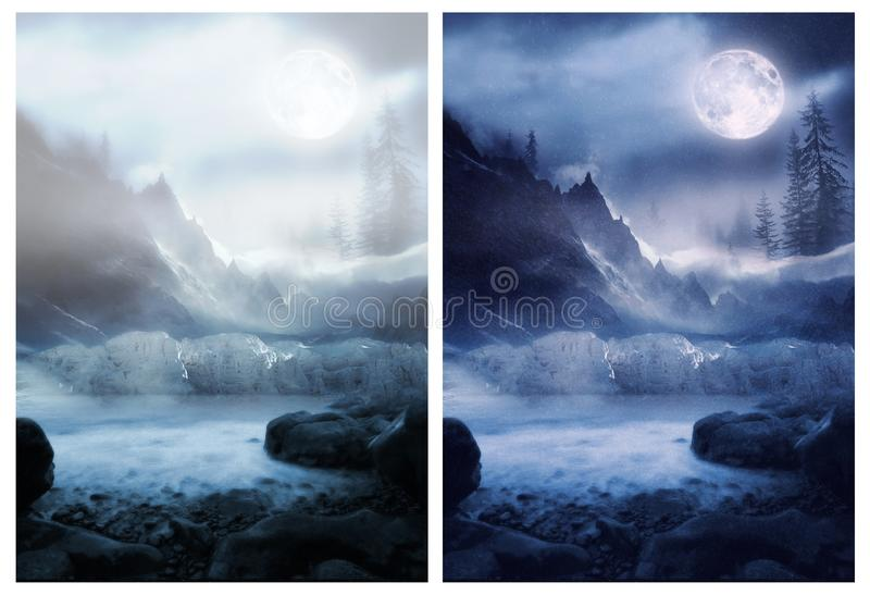 Сцена зимы стоковые фотографии rf
