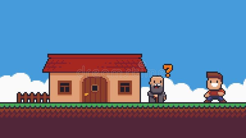 Сцена игры искусства пиксела бесплатная иллюстрация