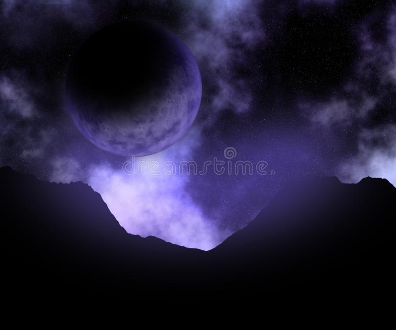сцена космоса конспекта 3D иллюстрация штока