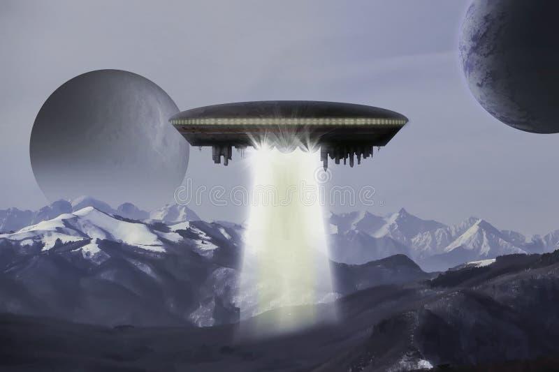 Сцена космоса чужеземца иллюстрация штока