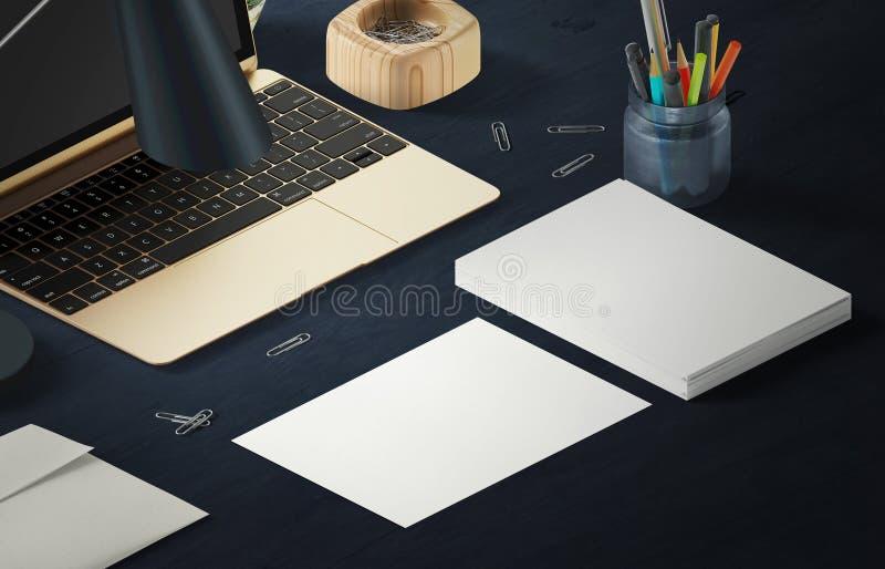 Сцена модель-макета, бумажный пробел с украшением для устанавливать ваш дизайн стоковые фотографии rf