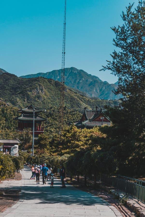 Сцена на Великой Китайской Стене Китая стоковые изображения