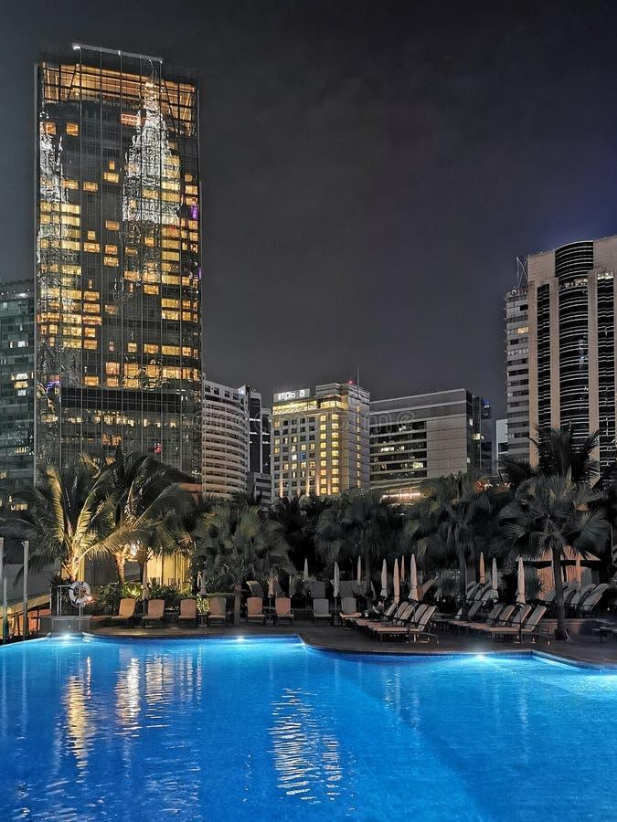 Сцена ночи Куалаа-Лумпур стоковые фото