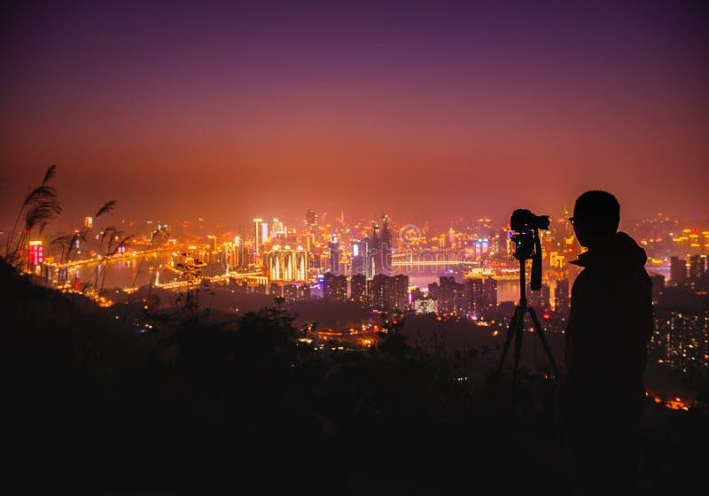 Сцена ночи Чунцина стоковая фотография rf