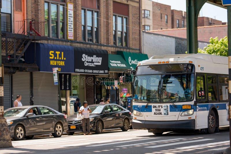 Сцена Нью-Йорк улицы фото бронкс стоковая фотография