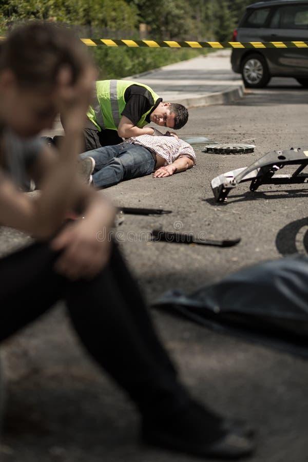 Сцена дорожного происшествия стоковые изображения rf