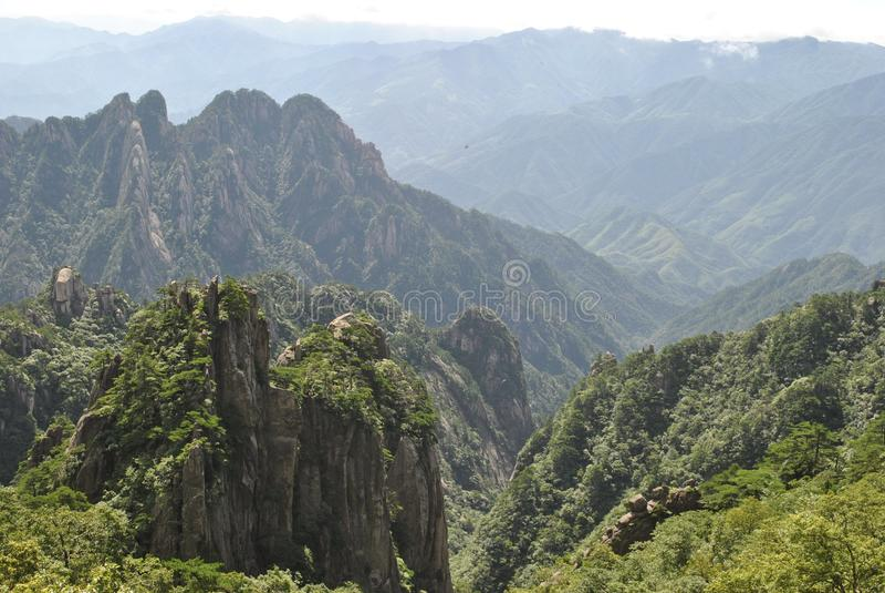 Сцена от желтой горы в Аньхое, Китае стоковые фото