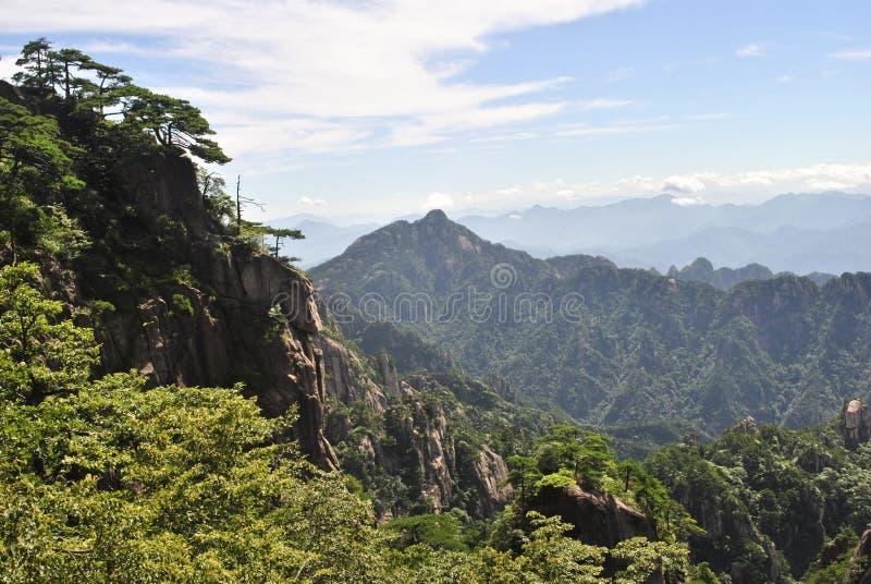 Сцена от желтой горы в Аньхое, Китае стоковая фотография rf