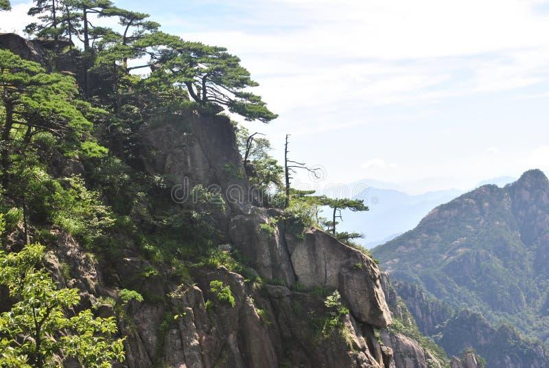 Сцена от желтой горы в Аньхое, Китае стоковые изображения rf