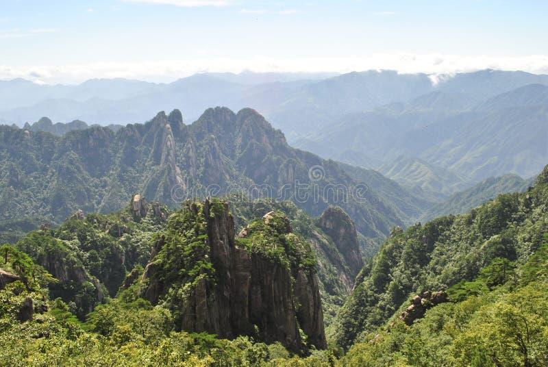 Сцена от желтой горы в Аньхое, Китае стоковое фото