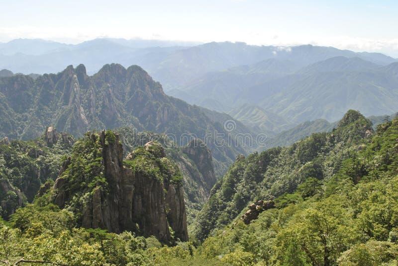 Сцена от желтой горы в Аньхое, Китае стоковое изображение rf