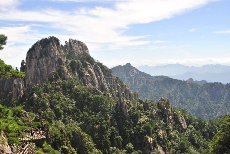 Сцена от желтой горы в Аньхое, Китае стоковые изображения