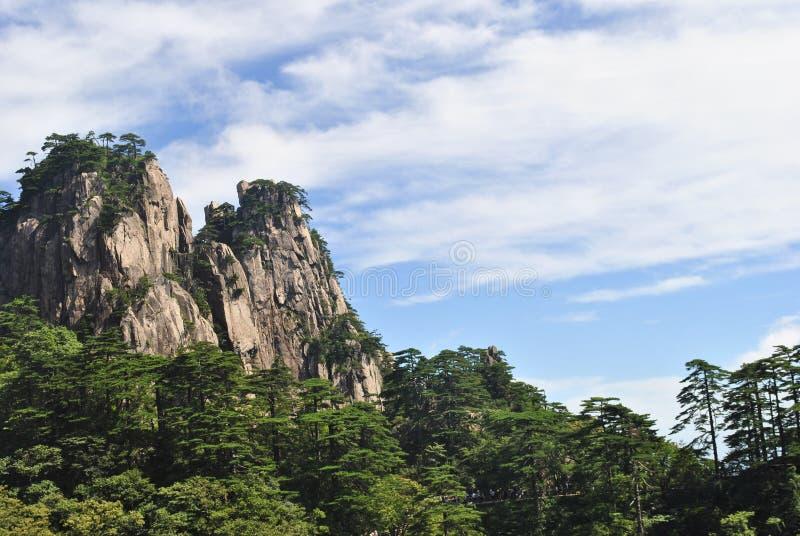 Сцена от желтой горы в Аньхое, Китае стоковые фотографии rf