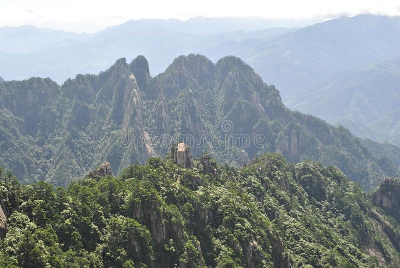 Сцена от желтой горы в Аньхое, Китае стоковое изображение