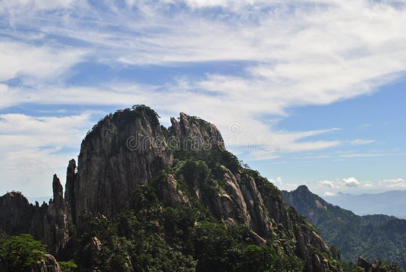 Сцена от желтой горы в Аньхое, Китае стоковое фото rf