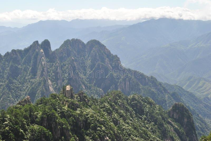 Сцена от желтой горы в Аньхое, Китае стоковая фотография