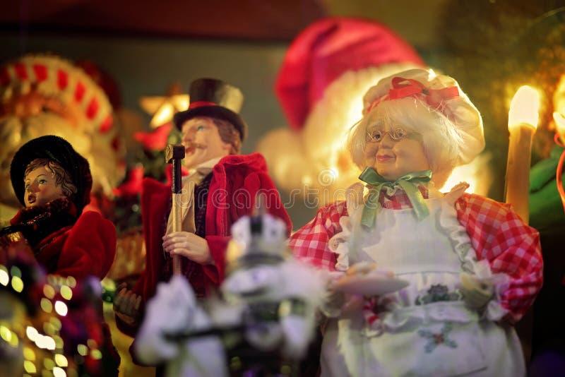 Сцена праздника рождества Госпожи Санта Клауса стоковая фотография rf