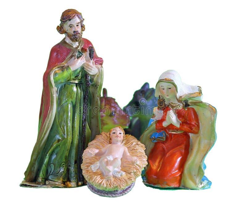 Сцена рождества с младенцем Иисусом стоковая фотография rf