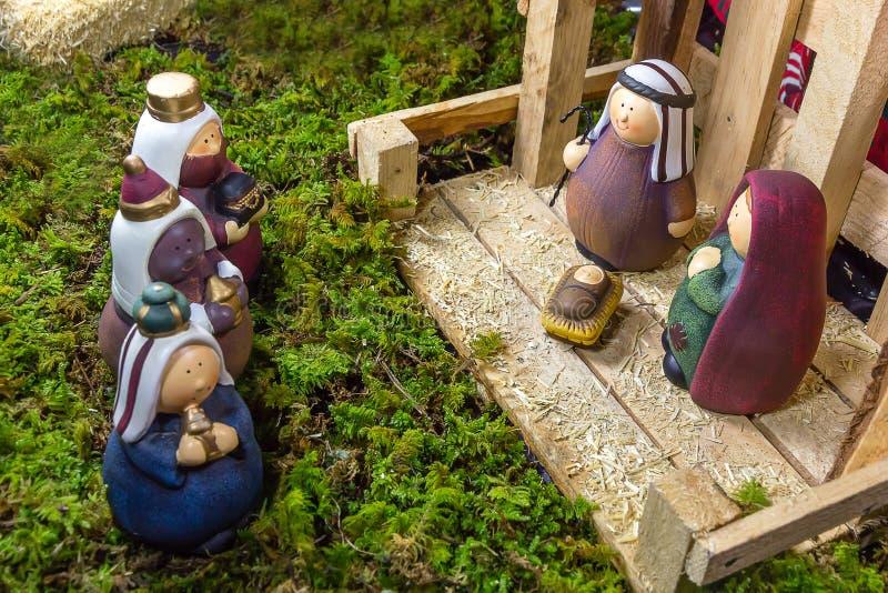 Сцена рождества - Nacimiento стоковая фотография rf