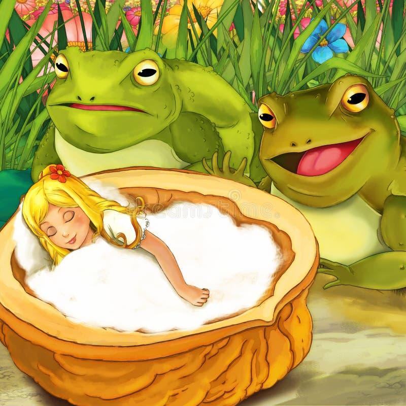 Сцена сказки шаржа - иллюстрация для детей бесплатная иллюстрация