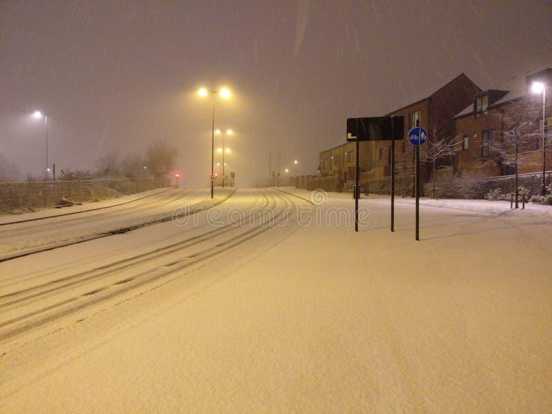 Сцена снега стоковые изображения rf