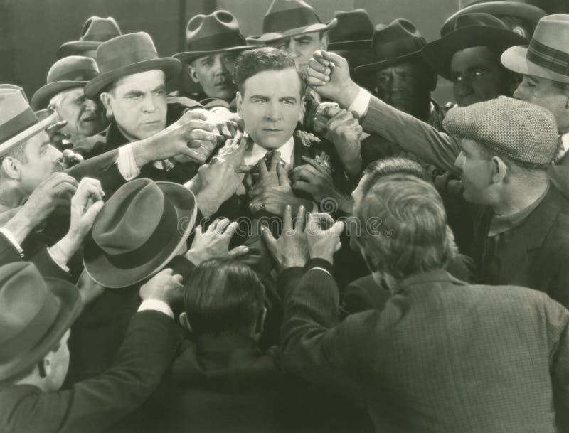 Сцена толпы стоковое изображение