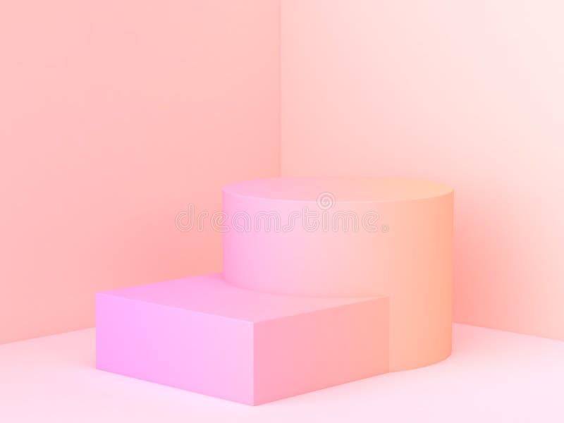 сцена угла стены конспекта подиума градиента перевода 3d минимальная иллюстрация штока