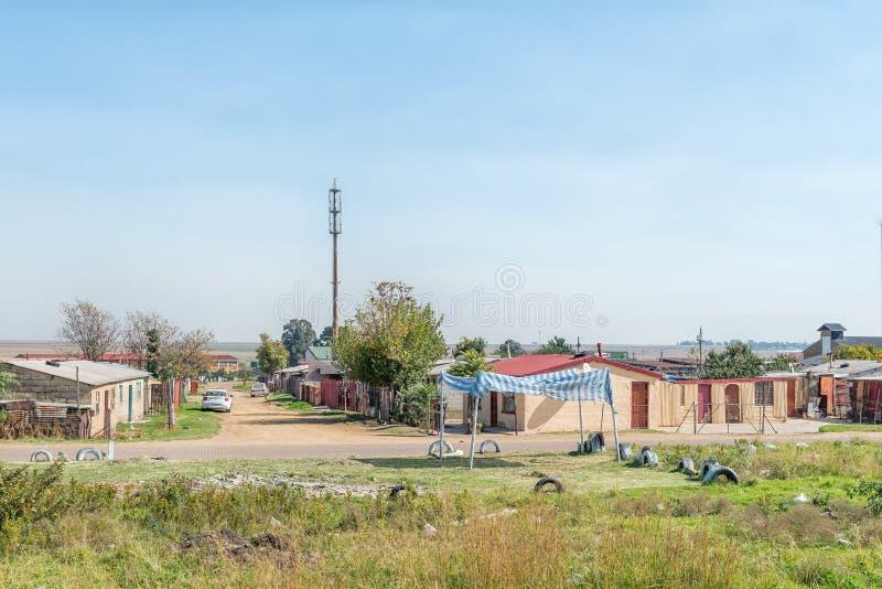 Сцена улицы в поселке Emzinoni в Bethal стоковое изображение