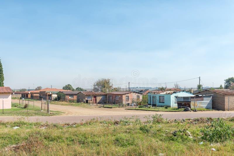Сцена улицы в поселке Emzinoni в Bethal стоковые изображения rf