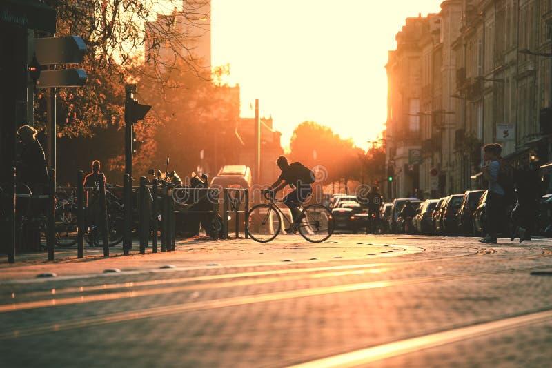 Сцена улицы города в Бордо стоковое фото