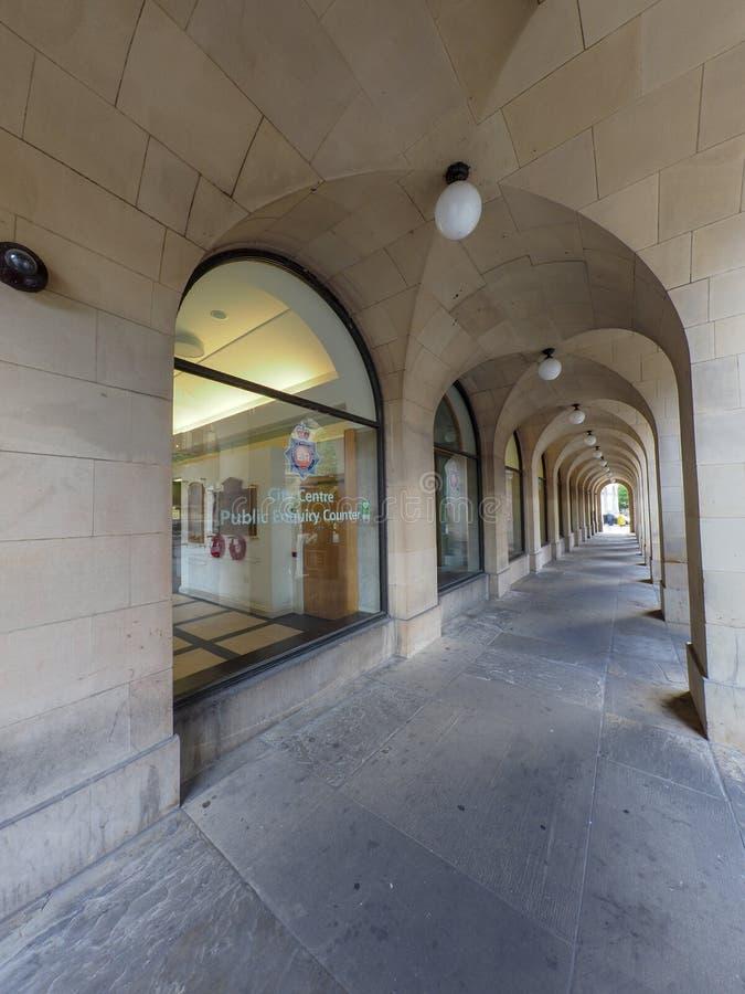 Сцена улицы Манчестера стоковые фотографии rf