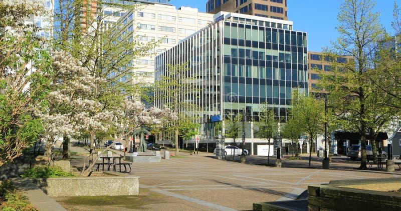 Сцена улицы от Halifax, Новой Шотландии, Канады стоковые изображения rf