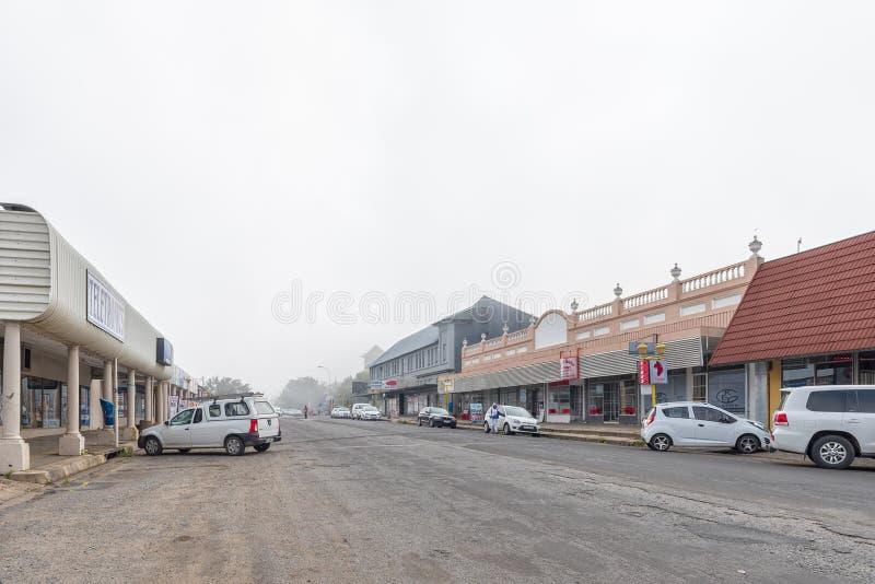 Сцена улицы, с делами и кораблями, в Standerton стоковая фотография rf